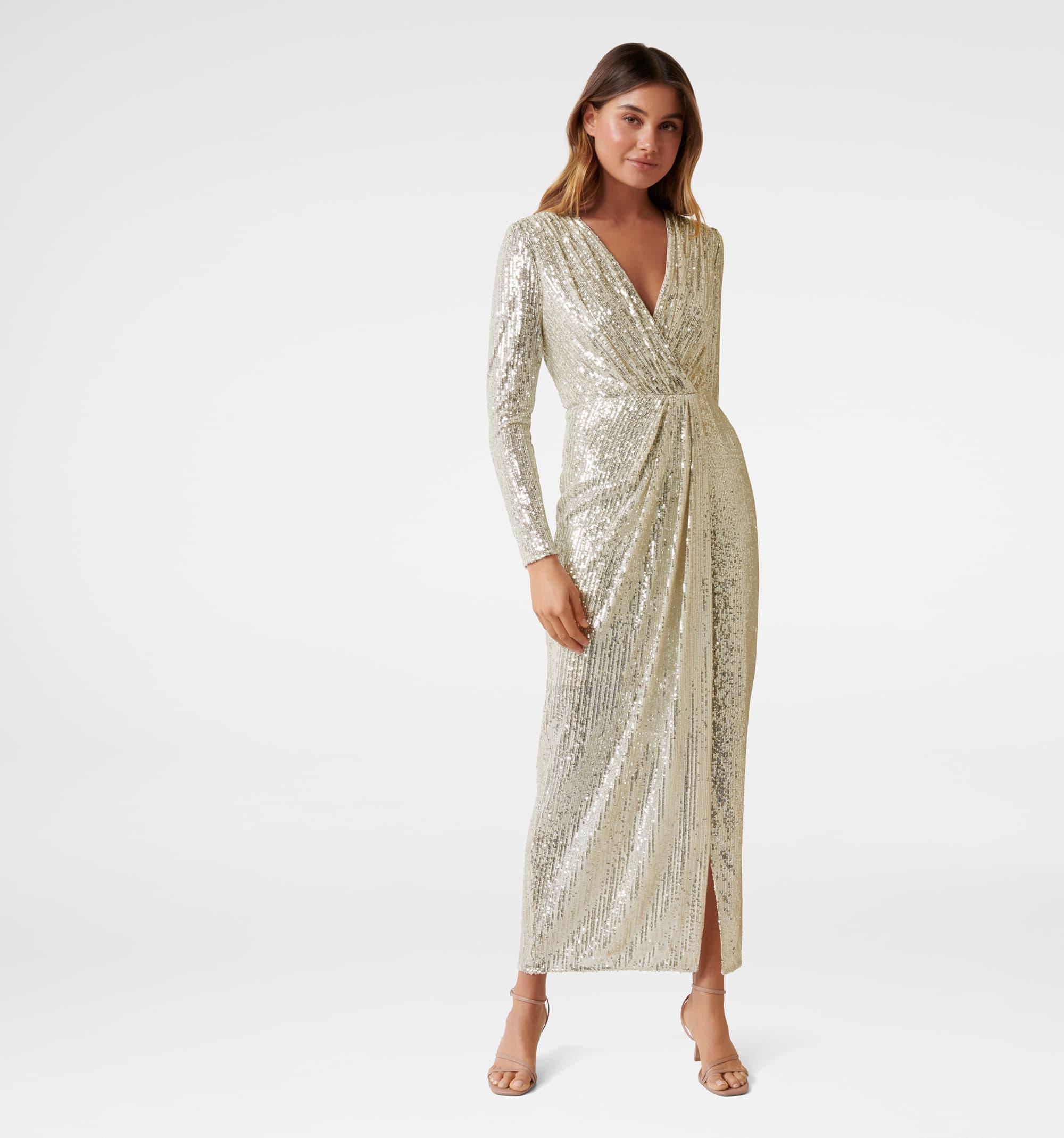 Tania Long Sleeve Sequin Maxi Dress